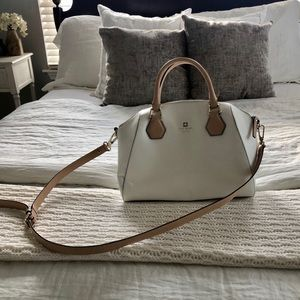 Kate Spade White/Cream Bowling Bag Dome Satchel